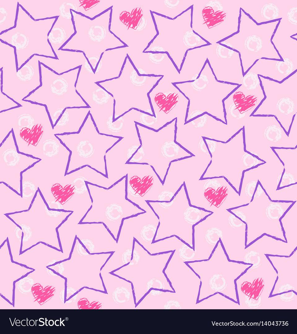 Seamless star heart pattern
