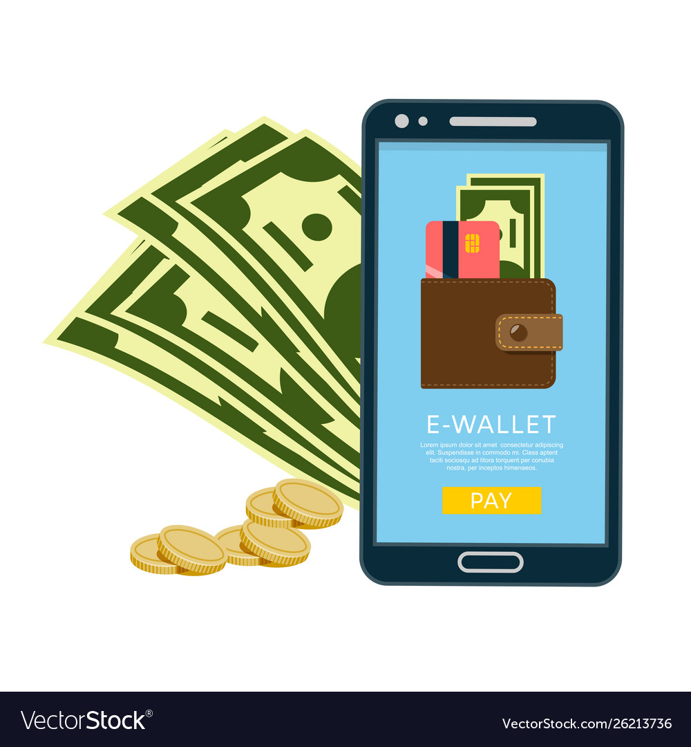 Smartphone with e-wallet banner