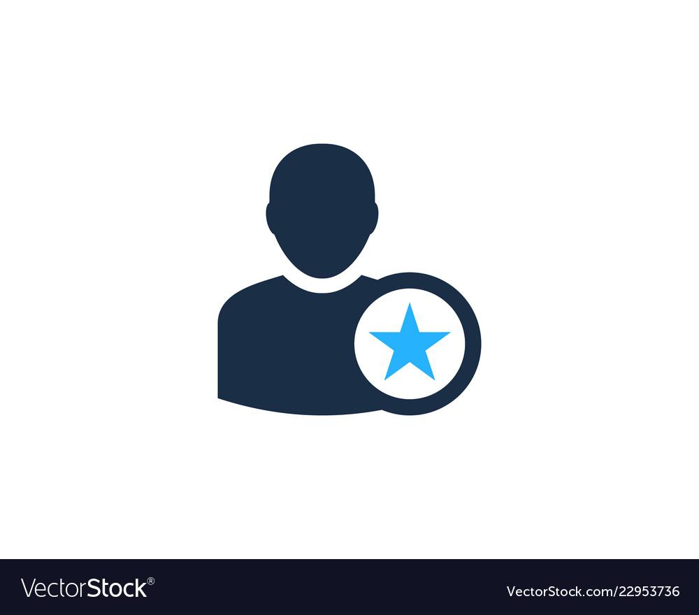 Star user logo icon design