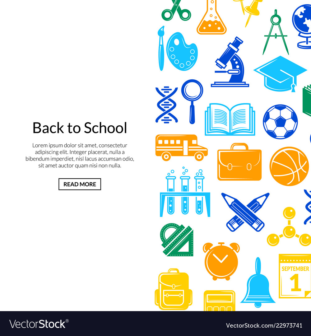 Back to school stationery background