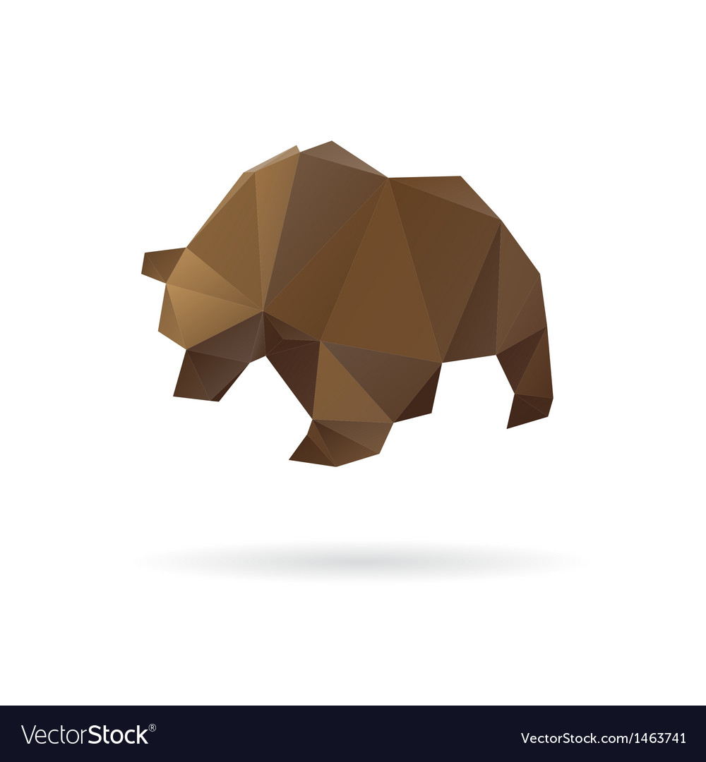 Bear abstract isolated on a white backgrounds