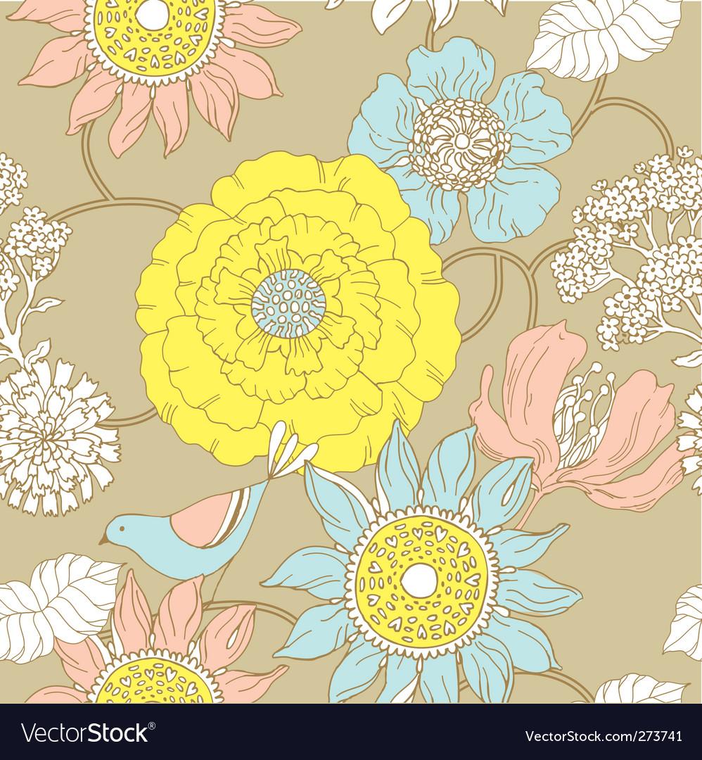 Floral garden pattern