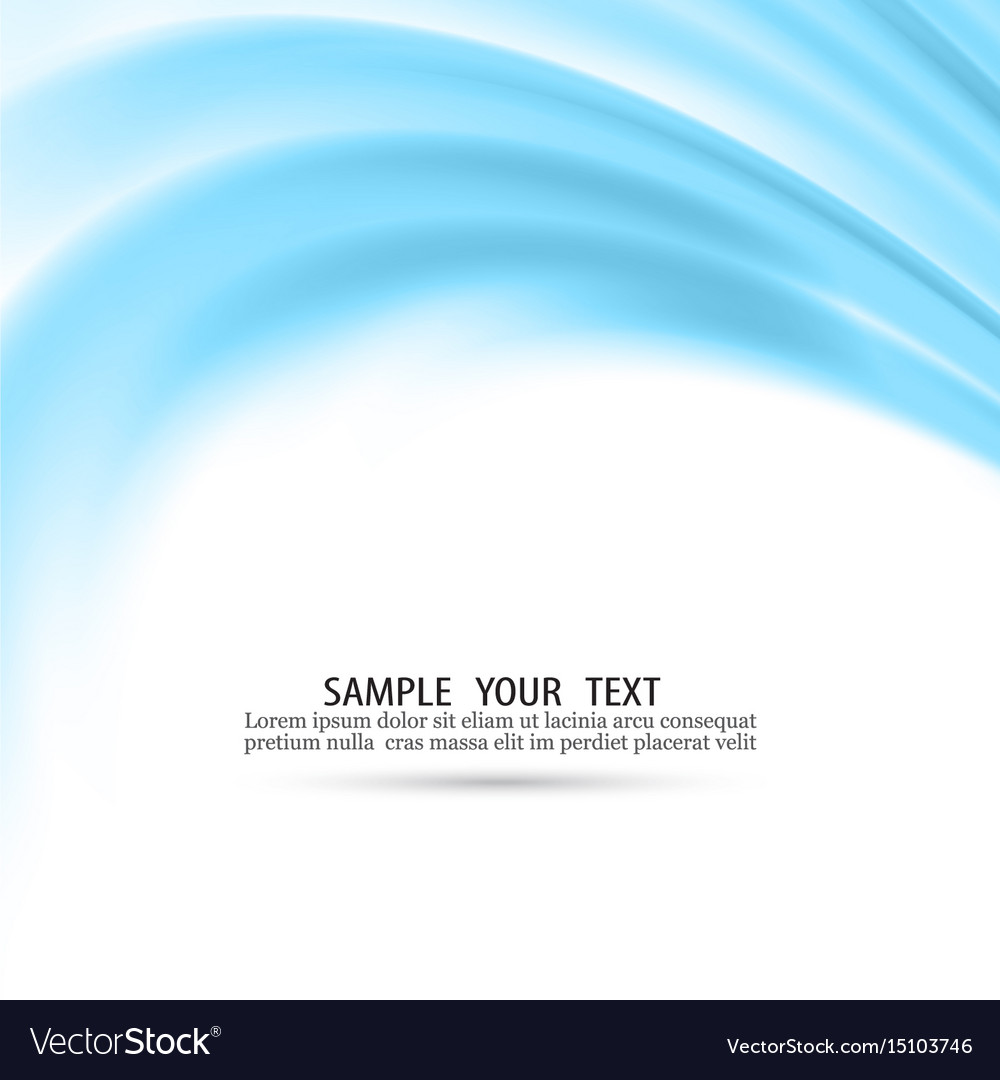 Abstract blue waves background eps10 vector image