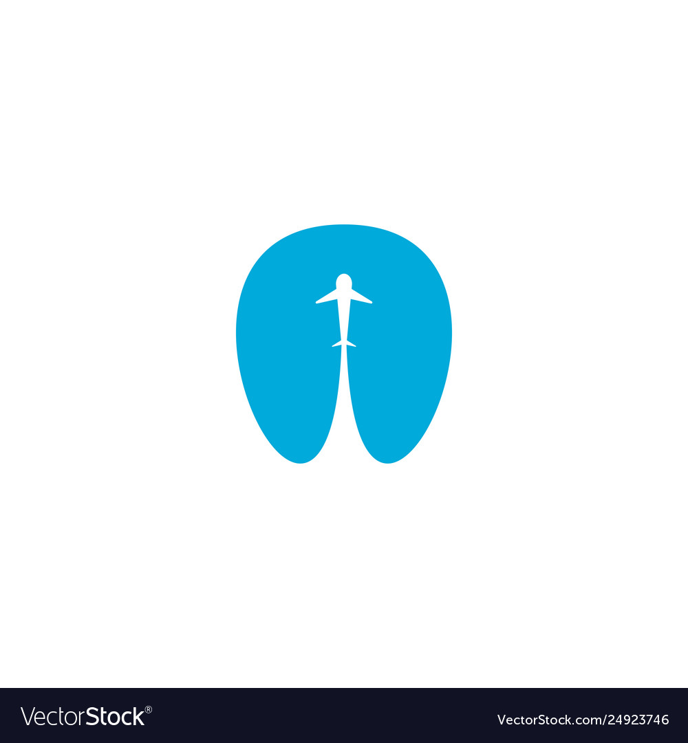 Airplane taking off logo icon design element
