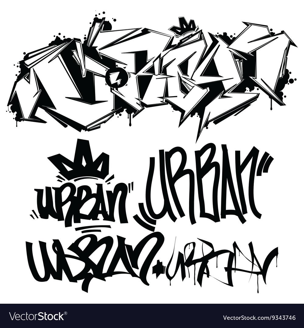 Graffiti tags writing vector image
