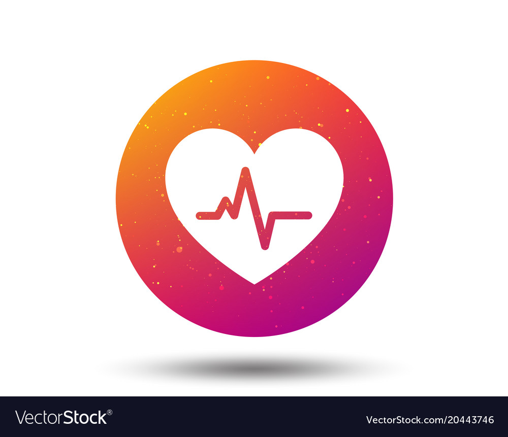 Heartbeat icon cardiology symbol