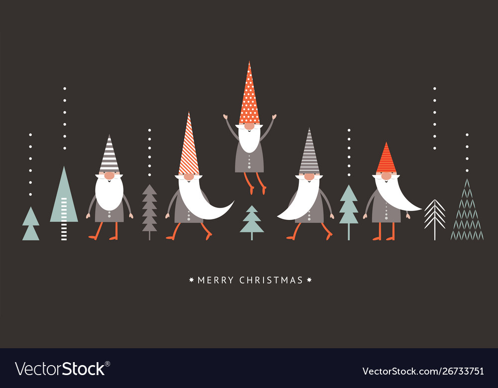 Christmas Gnomes Images.Christmas Gnomes In Red Hats