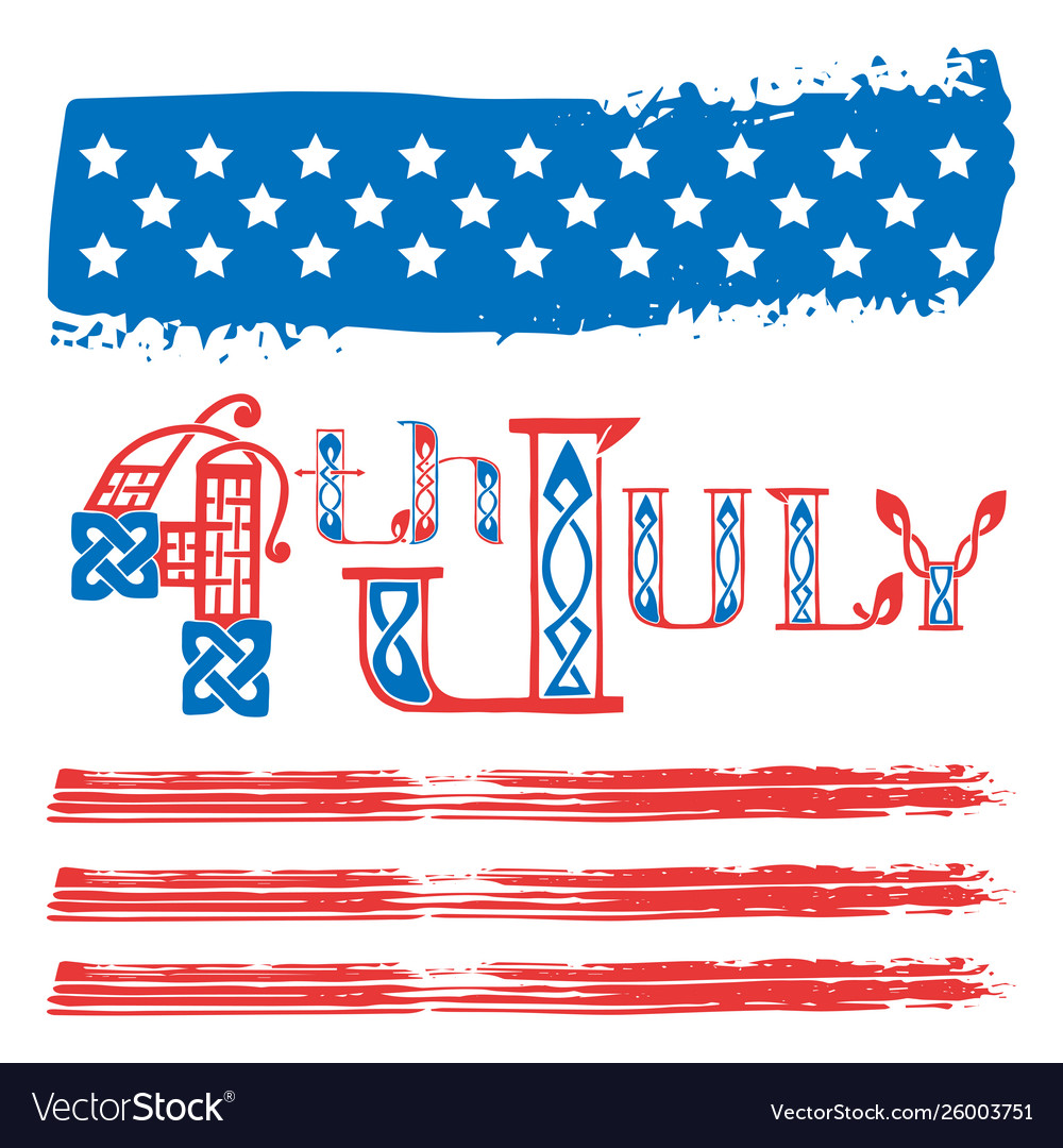 Fourth july usa independence day greeting card vector image