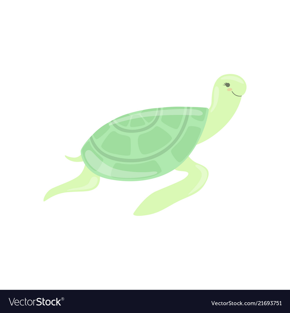 Lovely turtle cute sea creature character