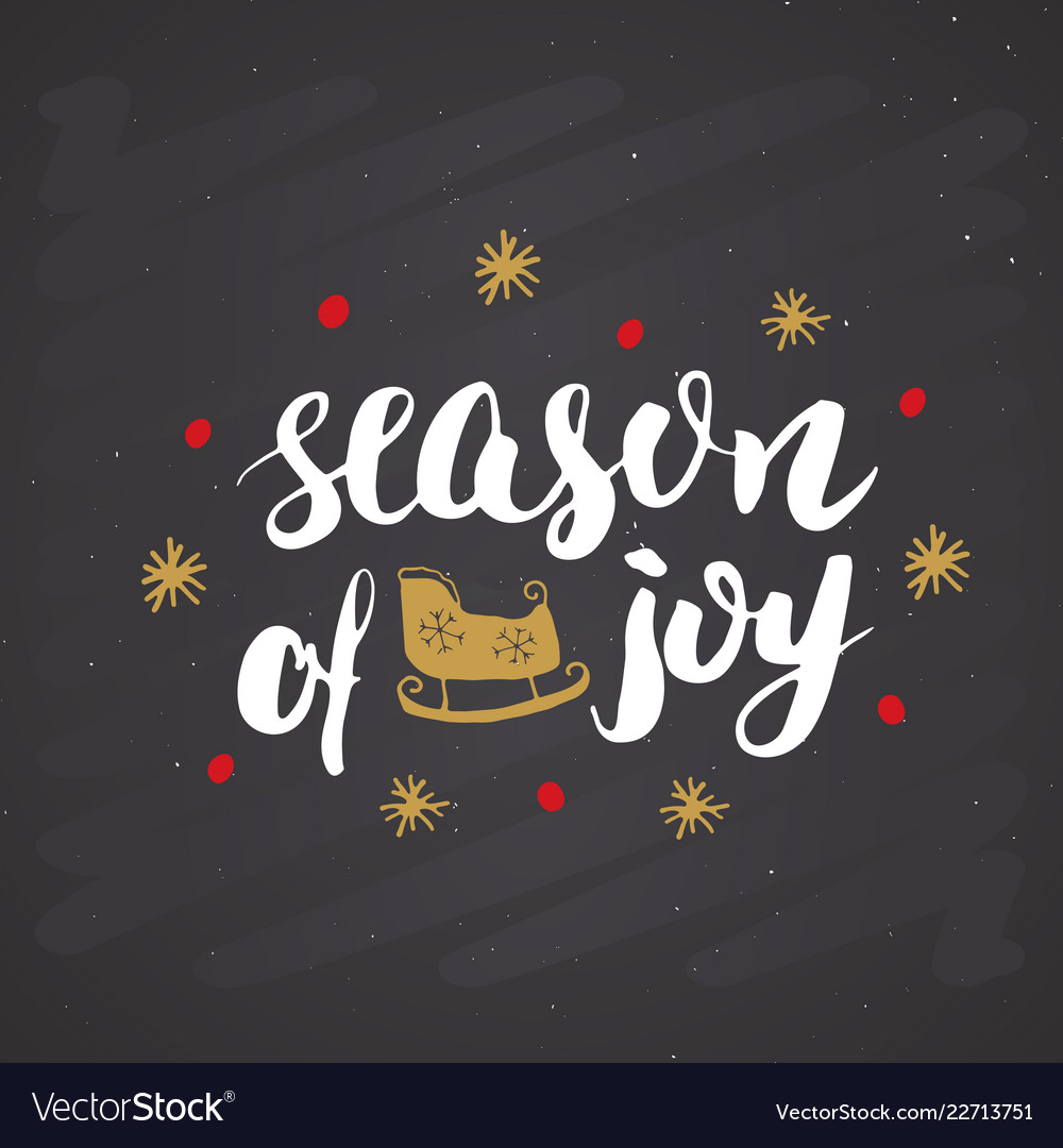 Merry christmas calligraphic lettering season of