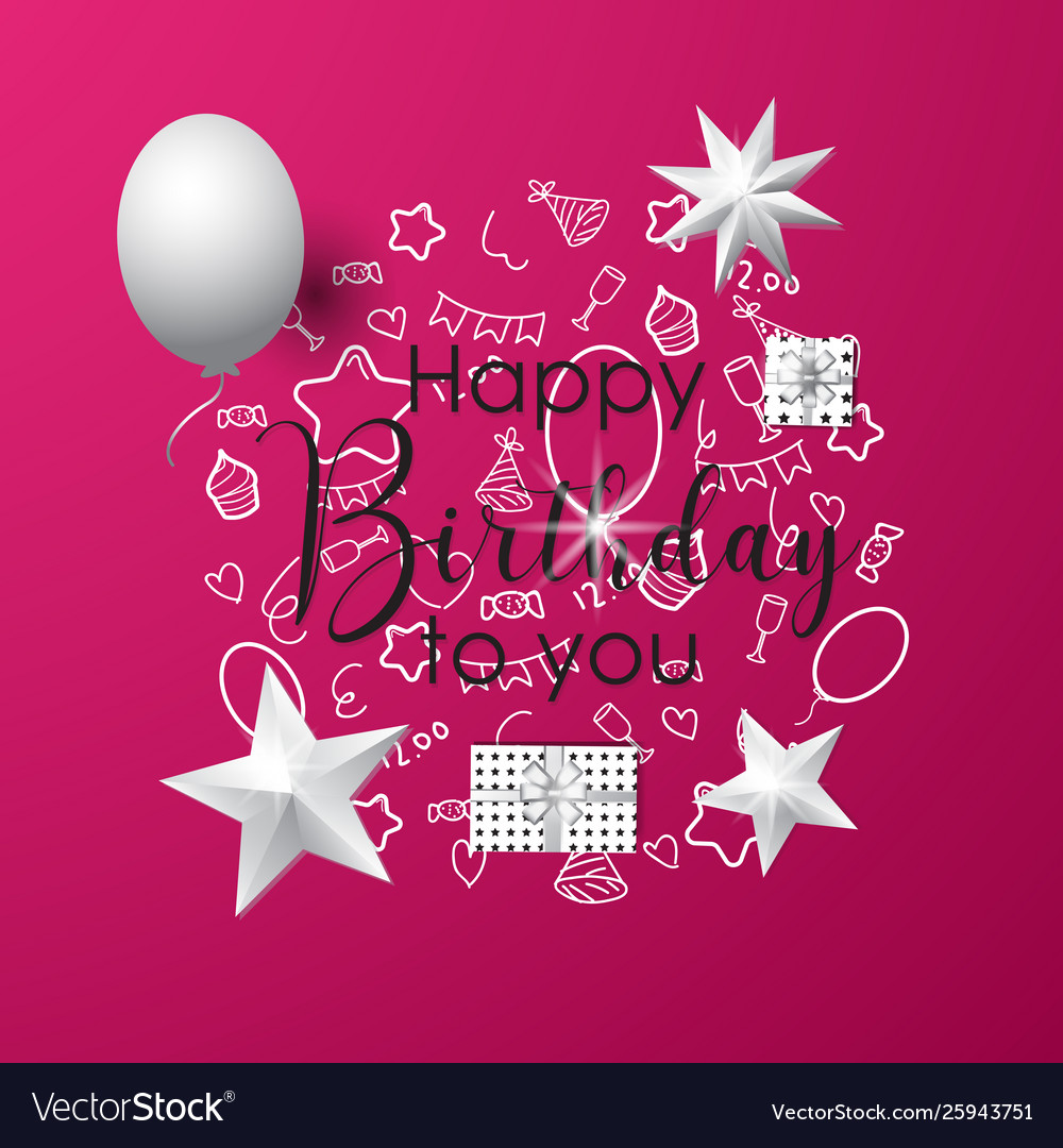 Pink happy birthday background