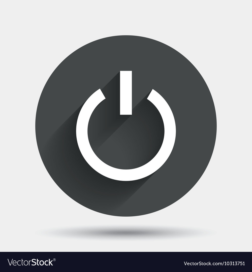 Power Sign Icon Switch On Symbol Royalty Free Vector Image