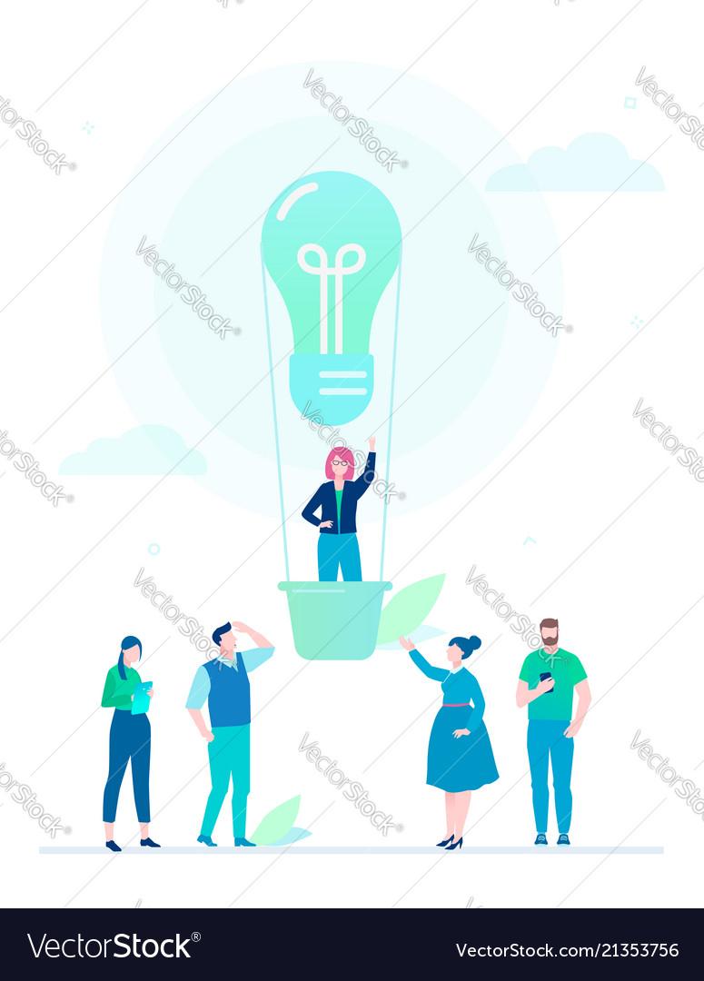 Business idea - flat design style colorful