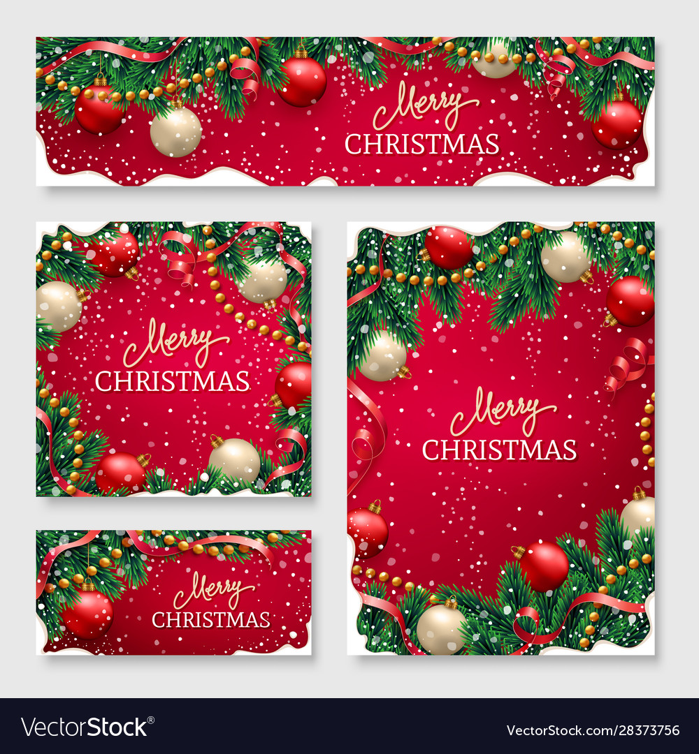 Christmas design for poster for website header vector