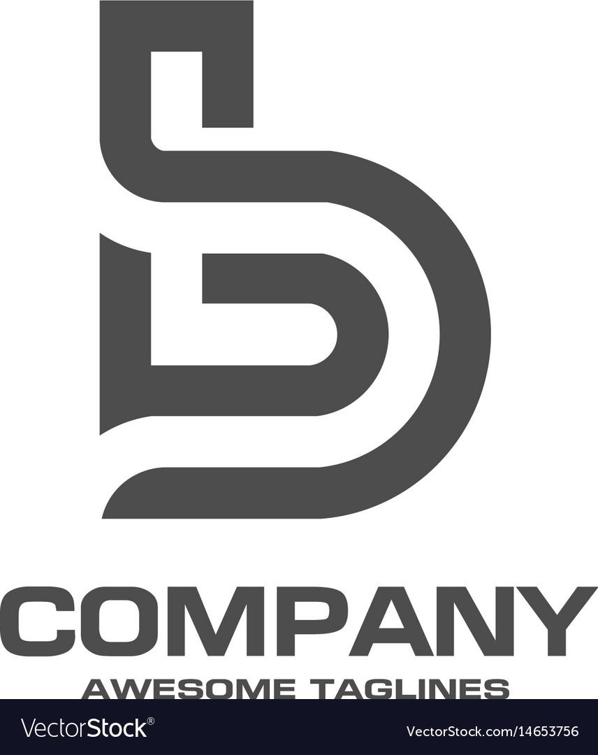 Creative b letter logo vector image