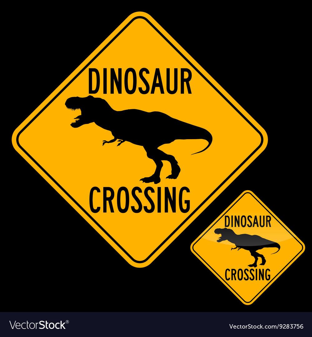 Dinosaur Crossing Royalty Free Vector Image Vectorstock