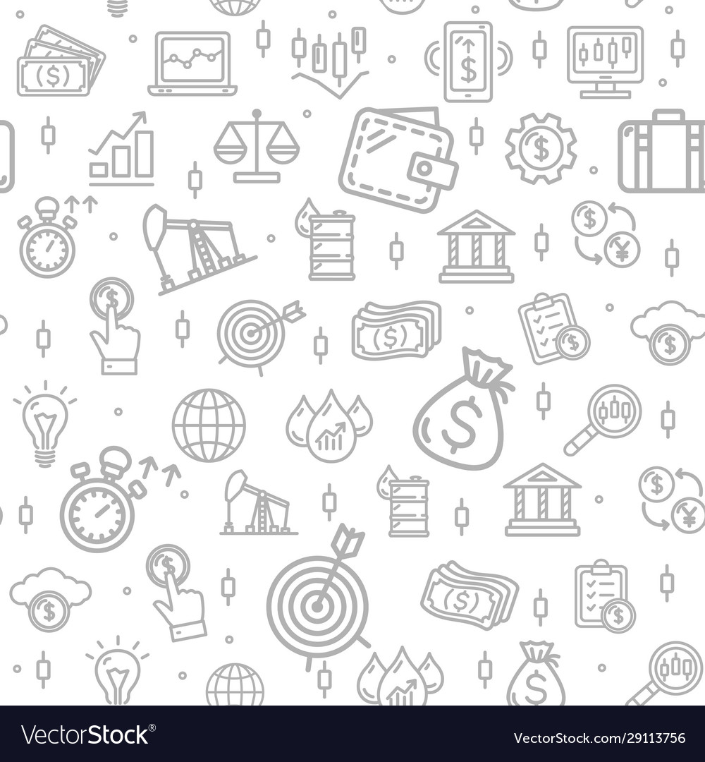 Finance investment signs seamless pattern