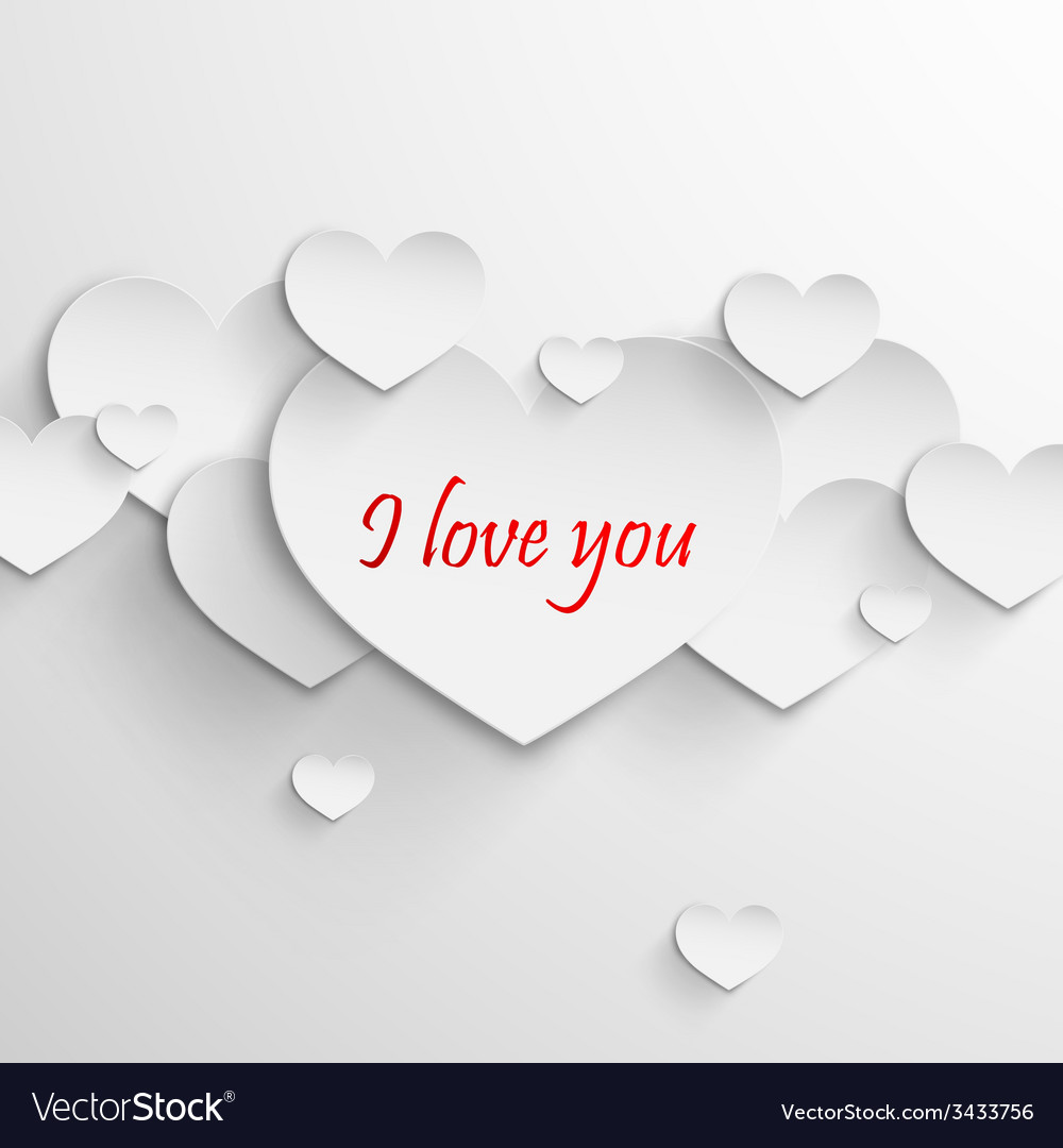 I love you Abstract holiday background with paper