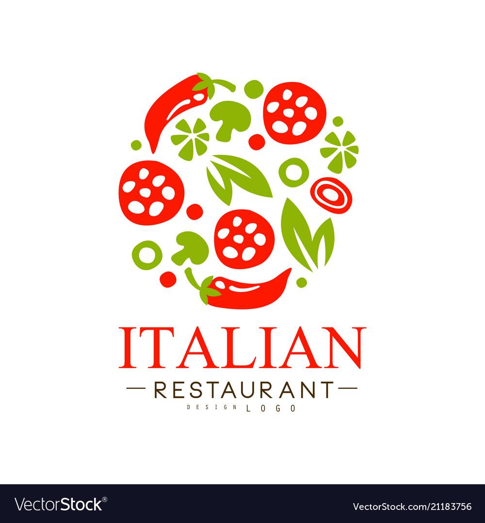 Italian Restaurant Logo Design Authentic Vector Image