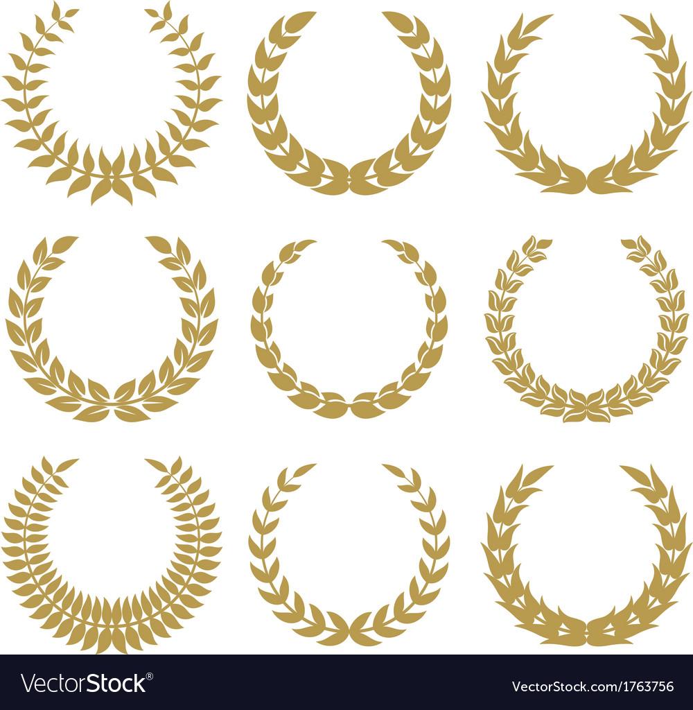 Laurel wreaths 1 vector image