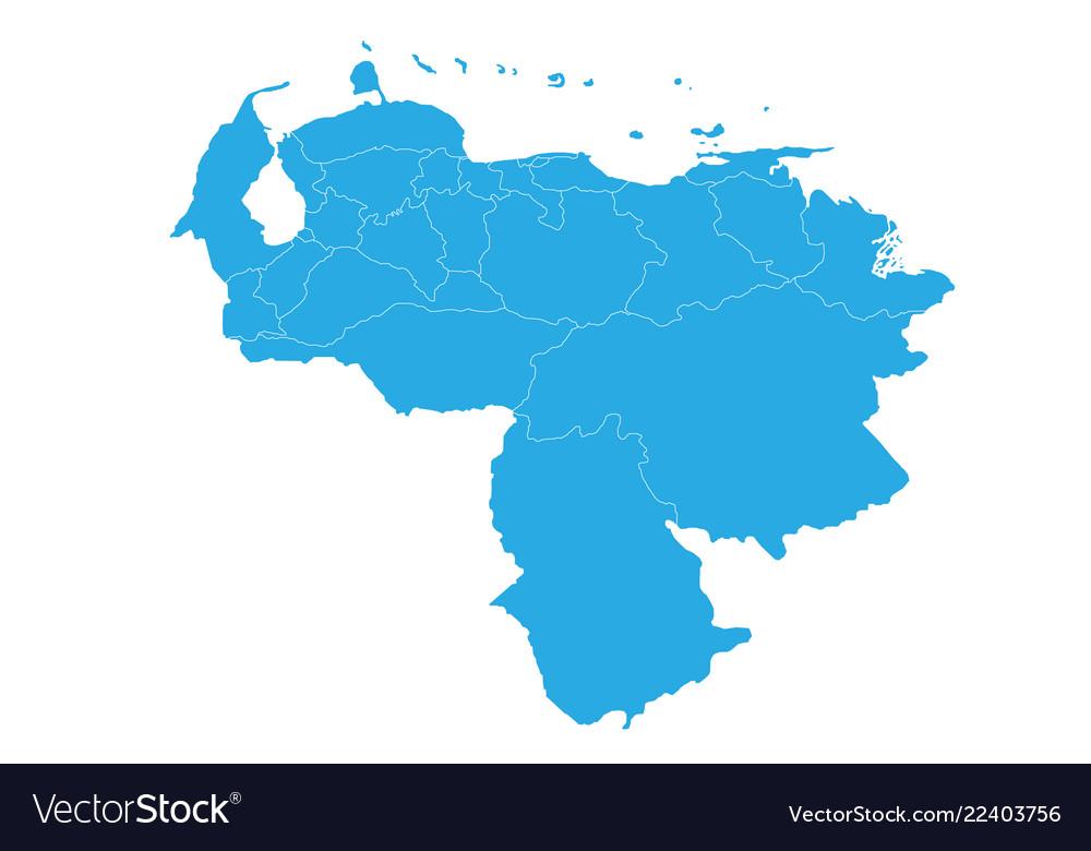 Map of venezuela high detailed map - venezuela