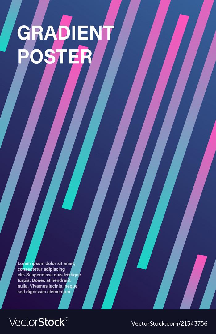 Modern futuristic geometric cover template