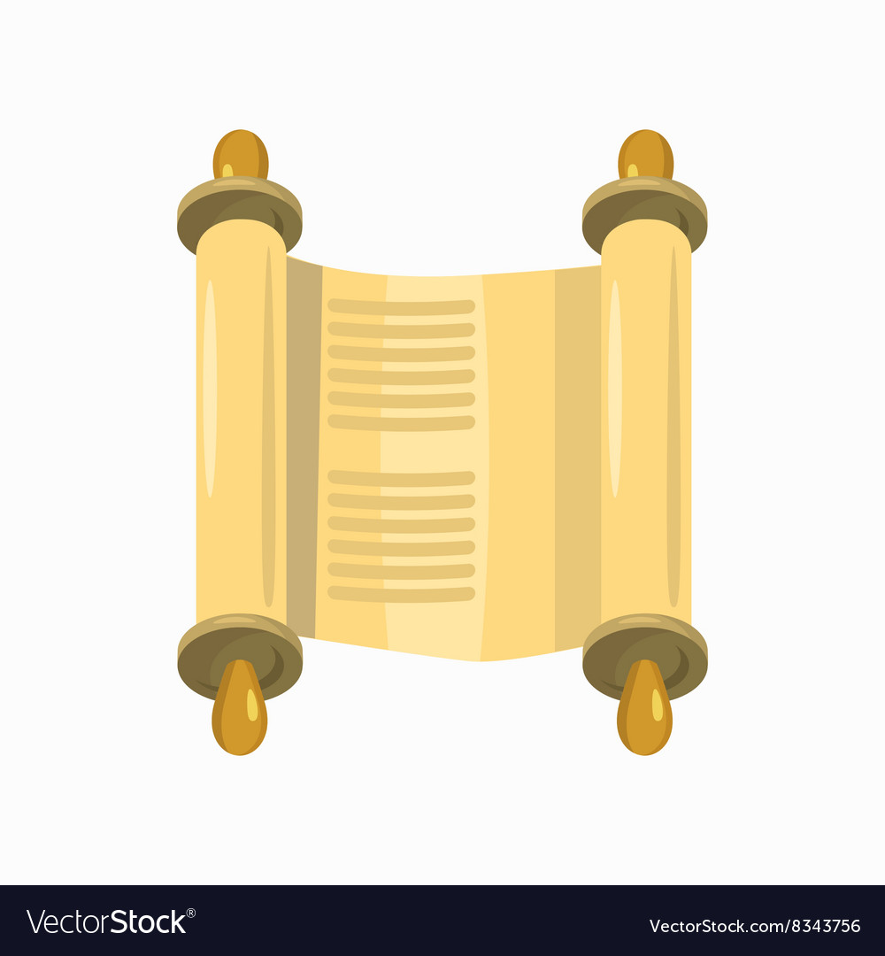Torah Scroll Icon Cartoon Style Royalty Free Vector Image