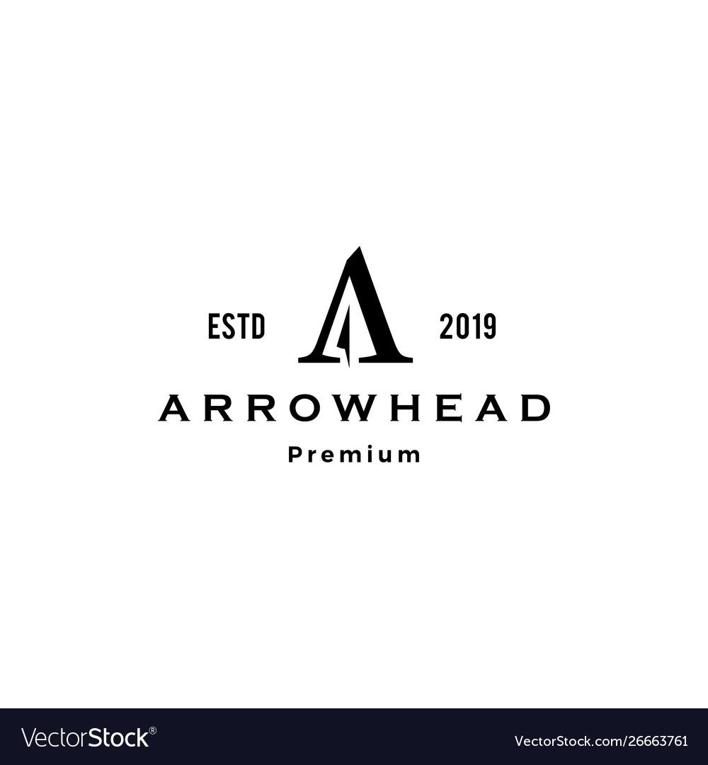 A letter arrowhead archer logo icon inspiration