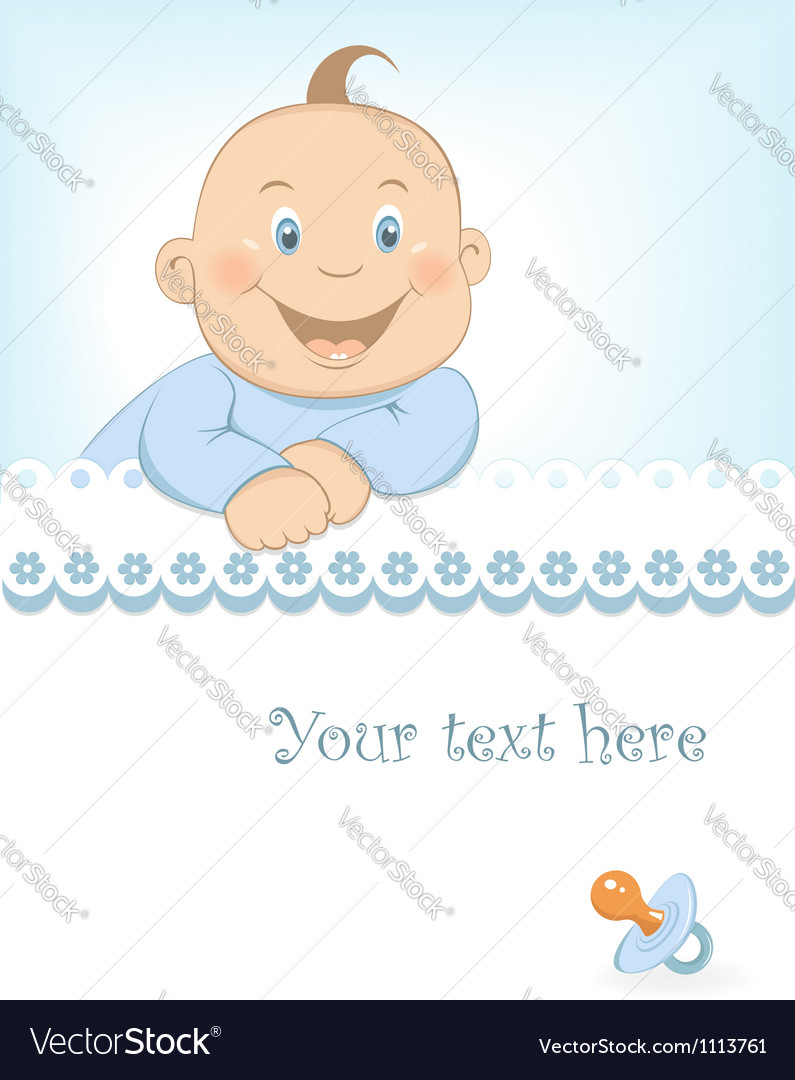 baby boy arrival announcement royalty free vector image