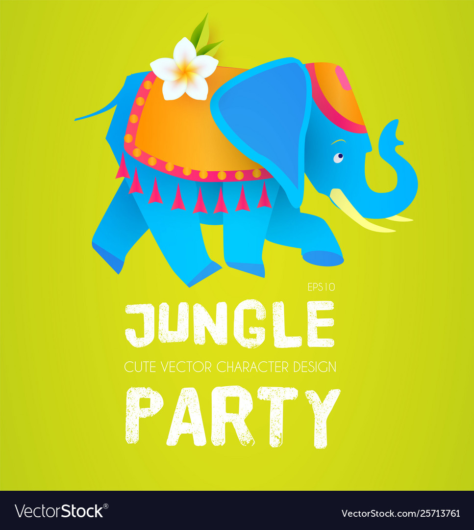 Cute elephant jungle party indian design exotic