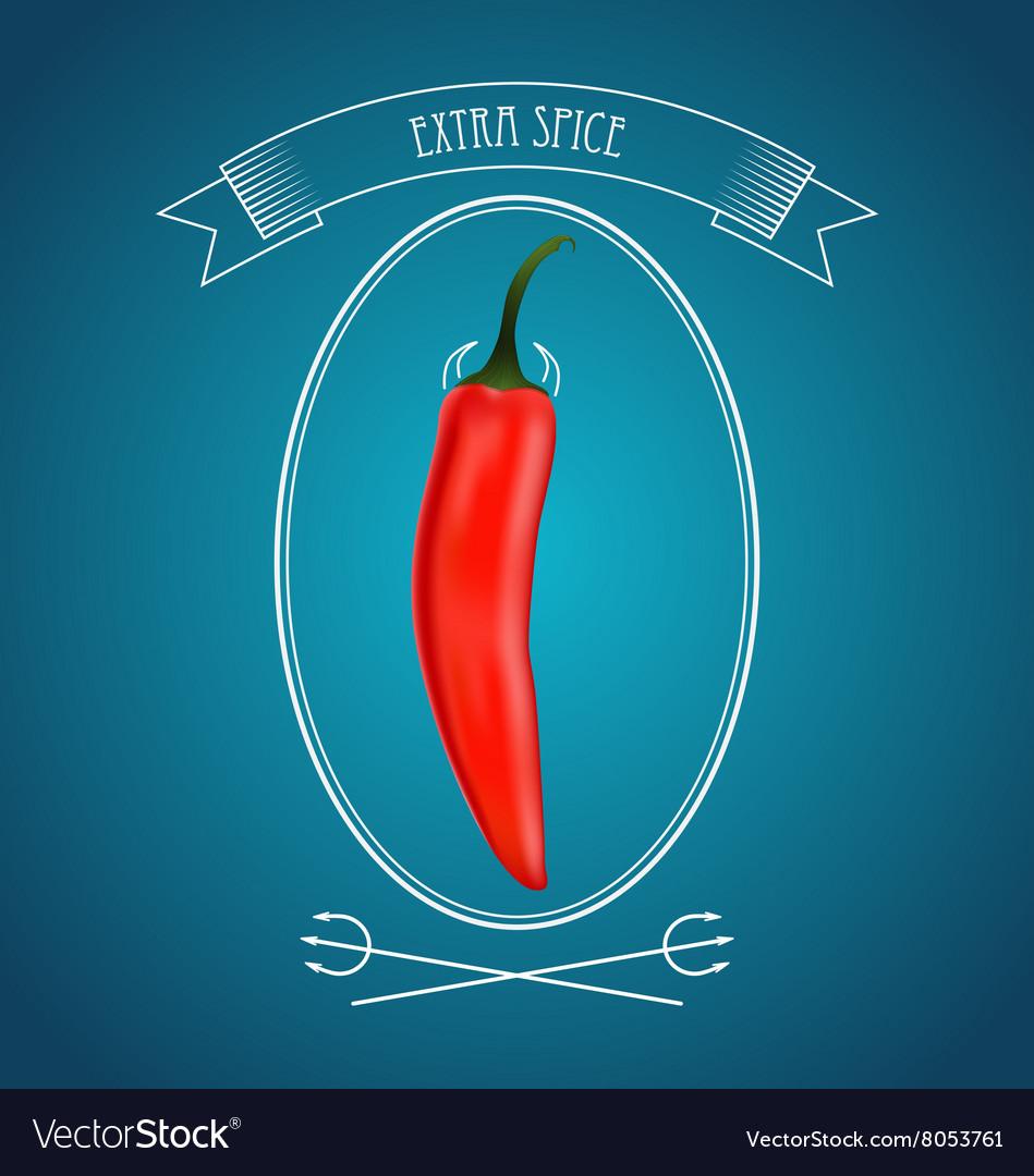 Devil Red Hot Chili Pepper And Vintage Decor