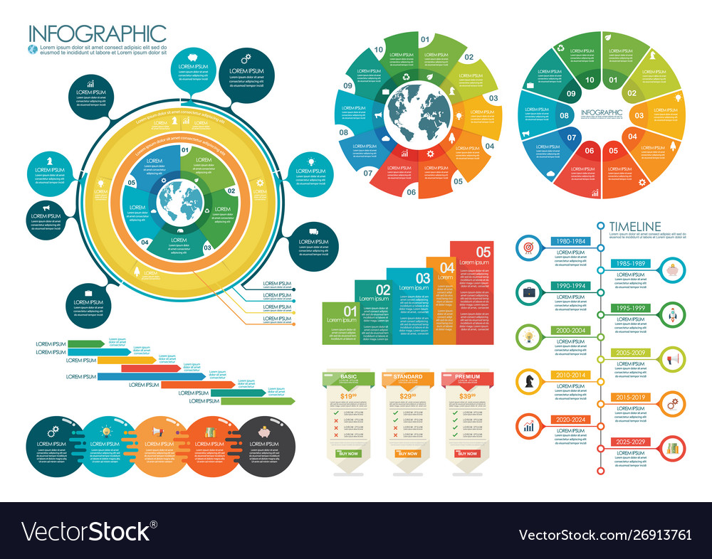 Infographic circle chart template