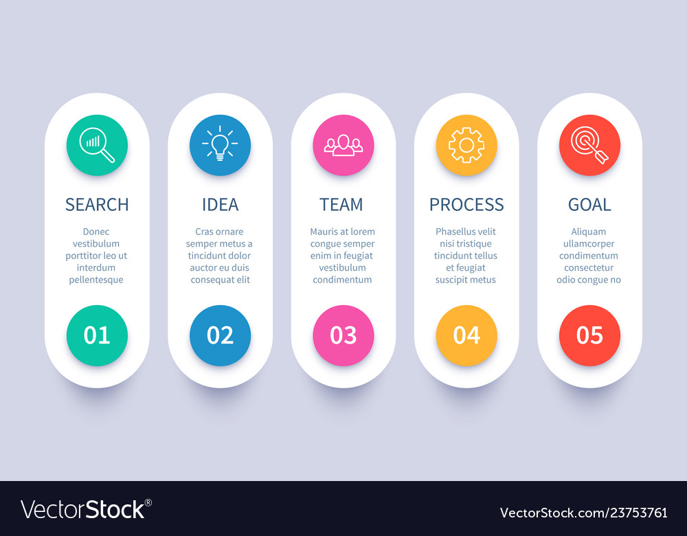 Process steps infographic chart business strategy
