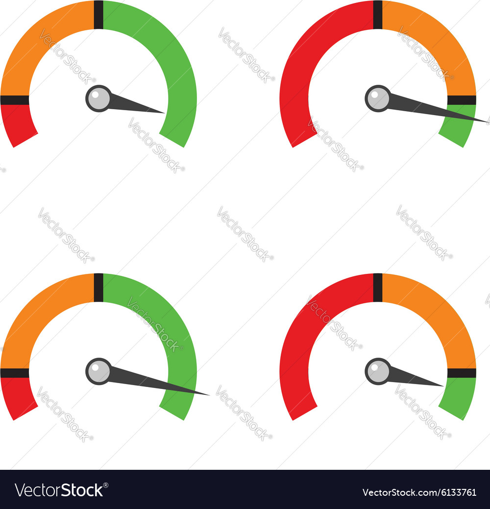 Set indicator showing a progress of performance vector image