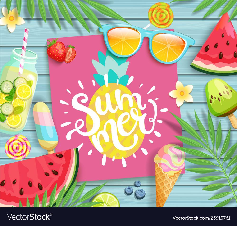 Summer 2019 pink card or banner