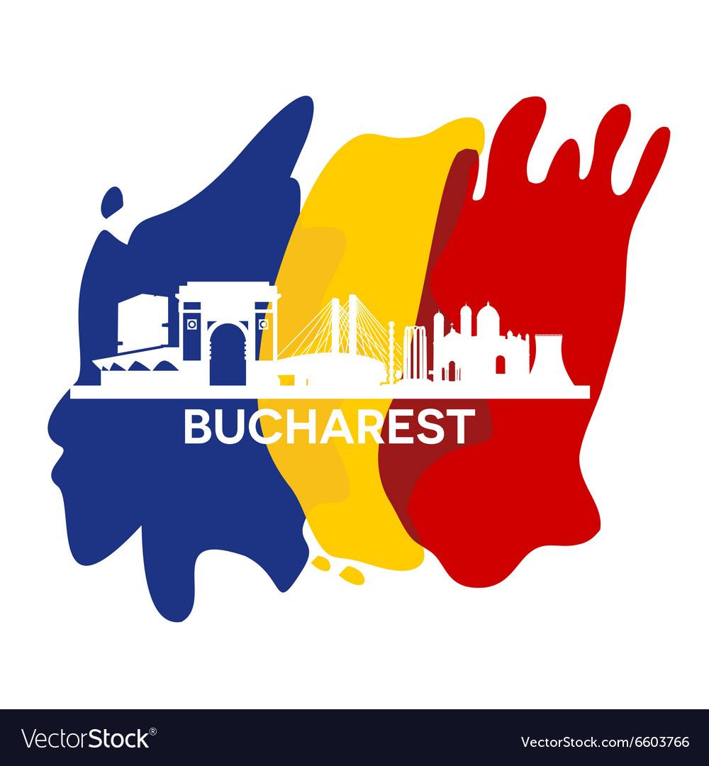 Bucharest city skyline