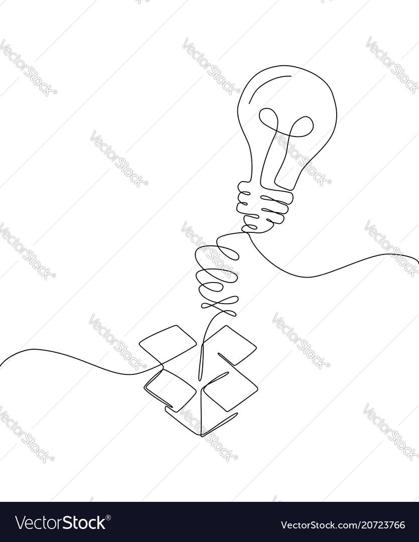 Creative idea - one line design style