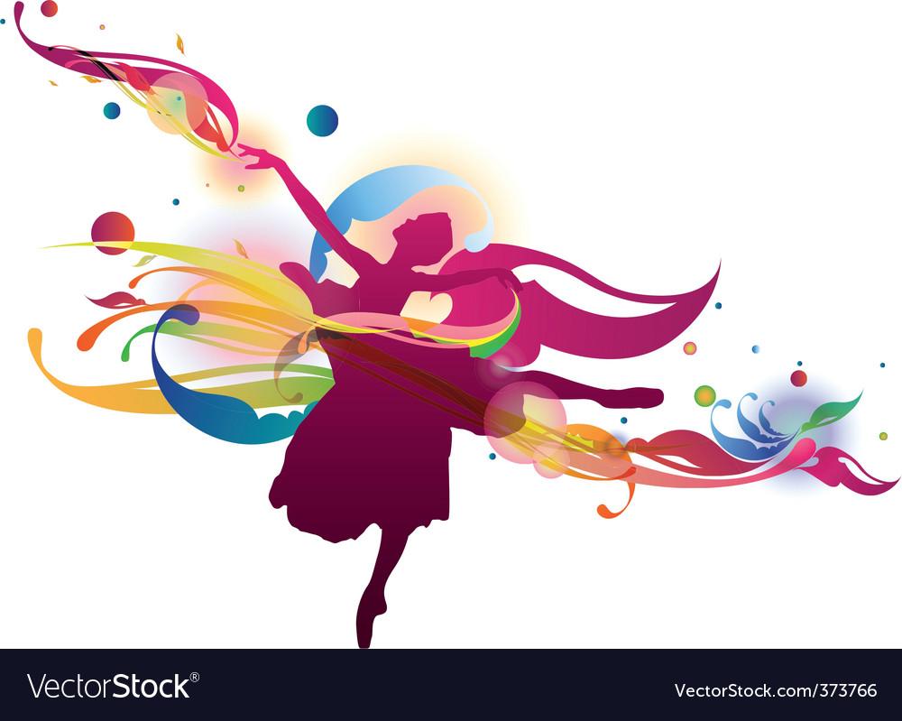 Flourish ballerina vector image