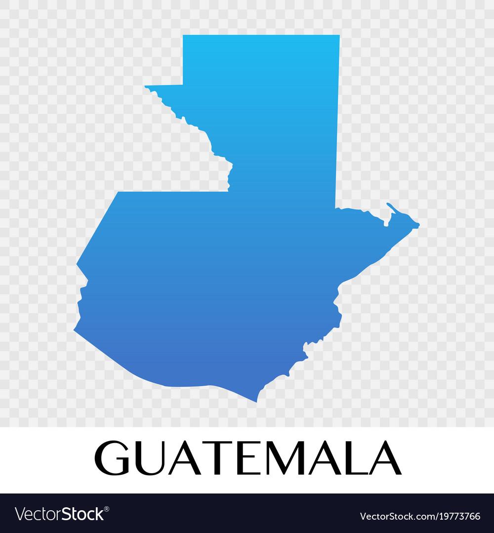 Guatemala map in north america continent design