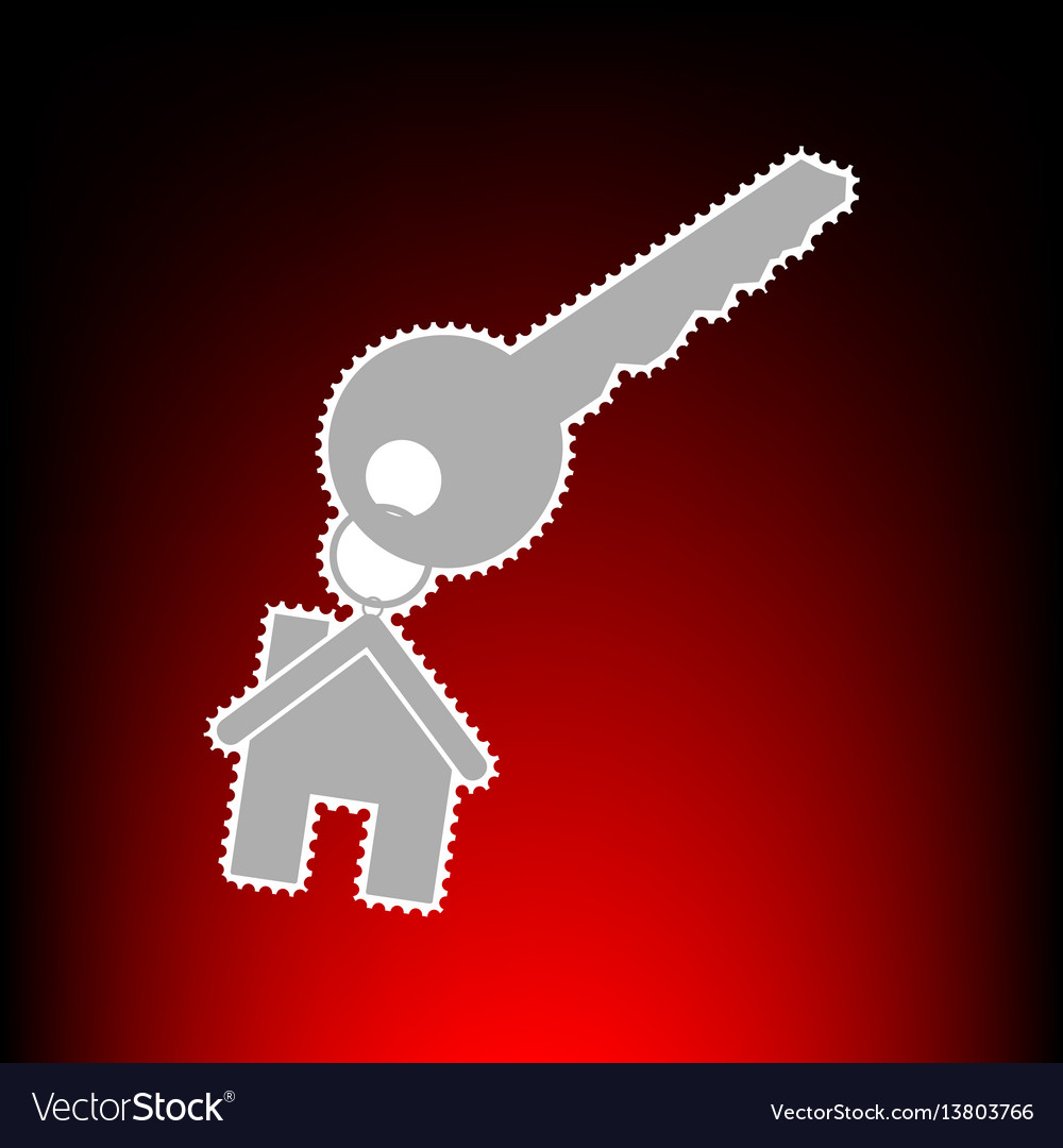 Key with keychain as an house vector image