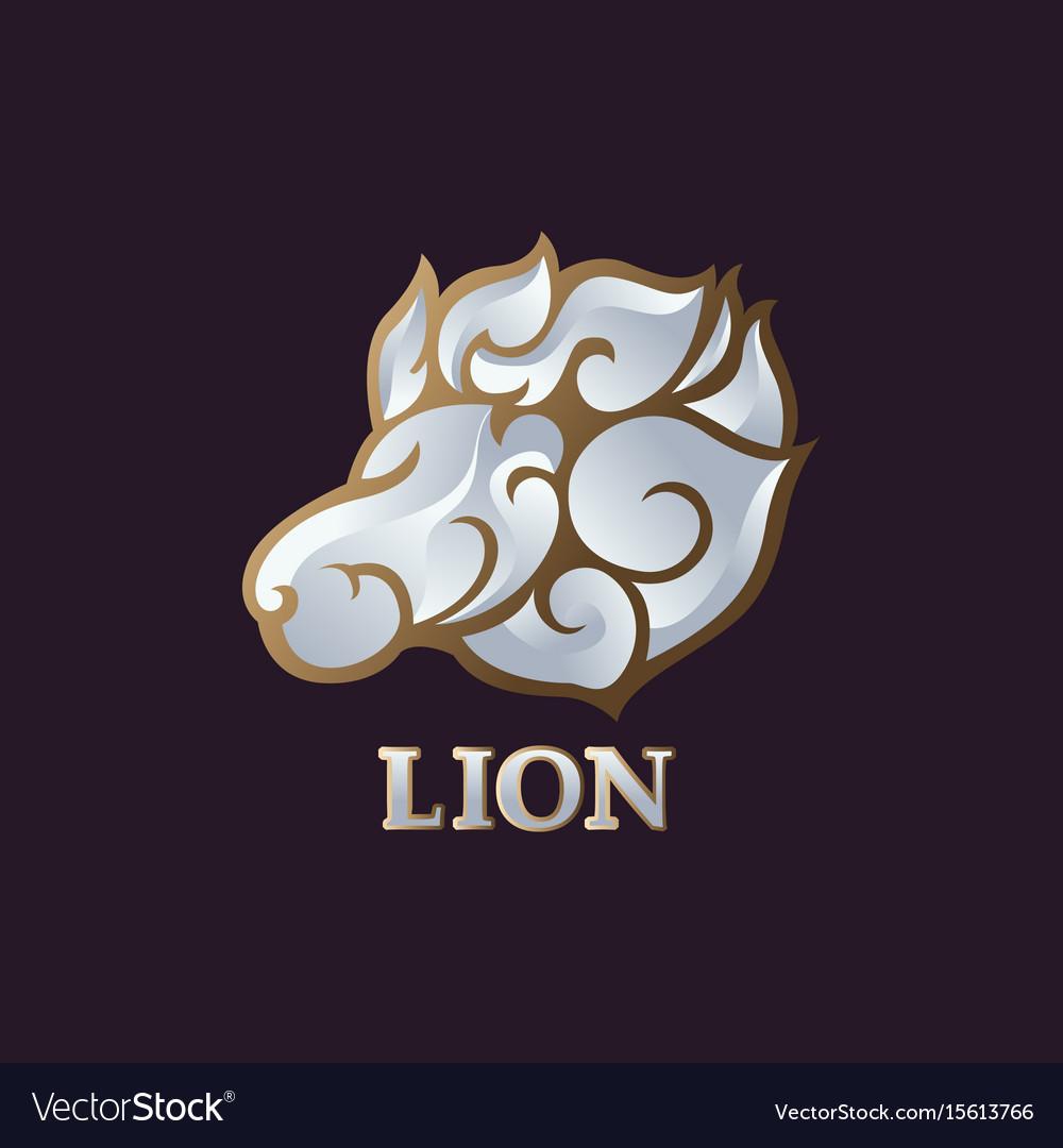 Lion logo icon design