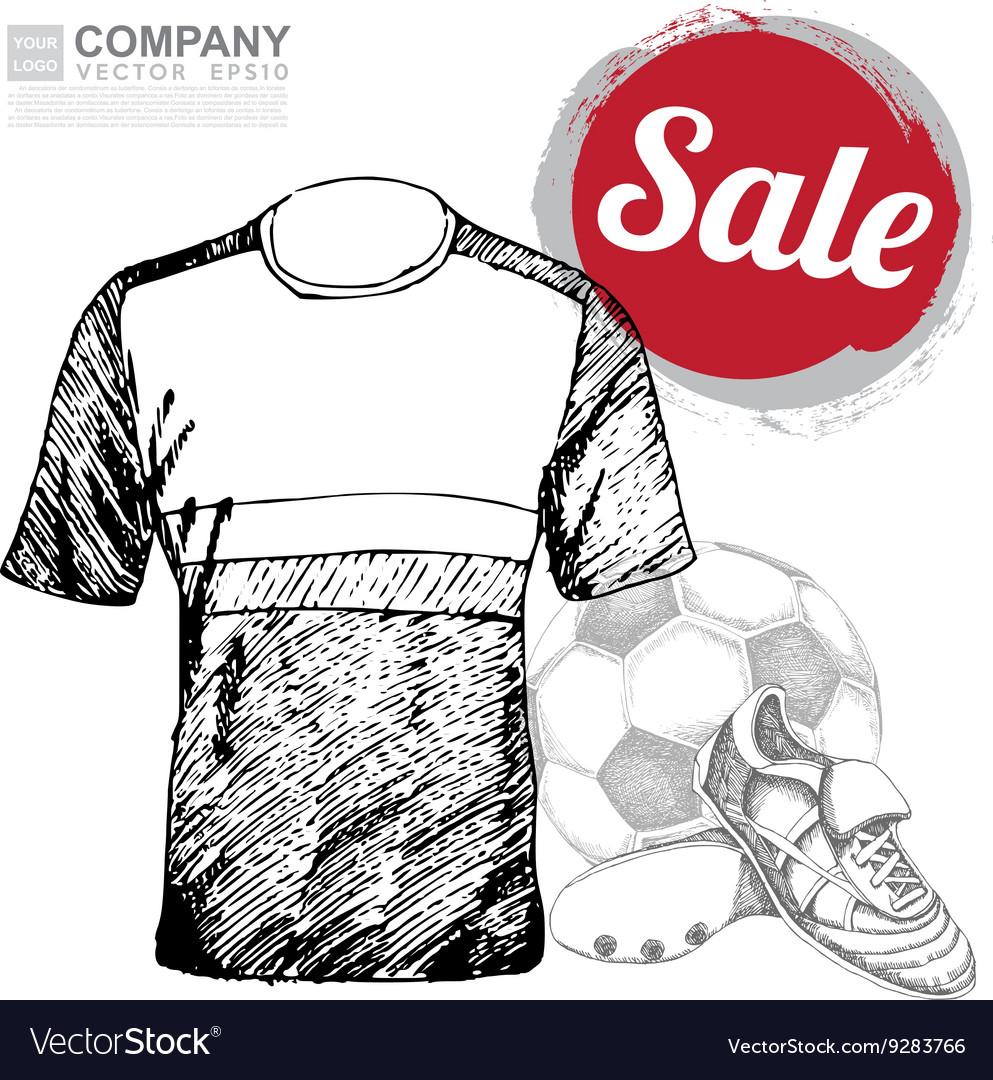Poster design of soccer football