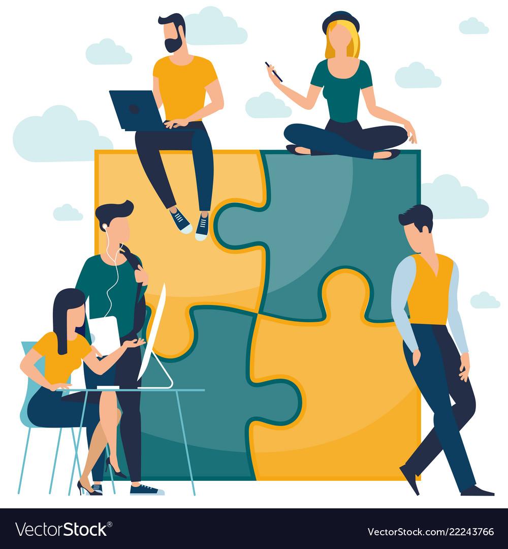 Puzzle business concept
