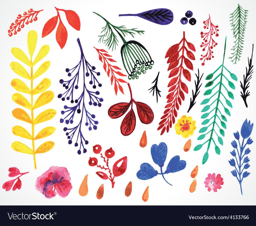 Sprigs watercolor