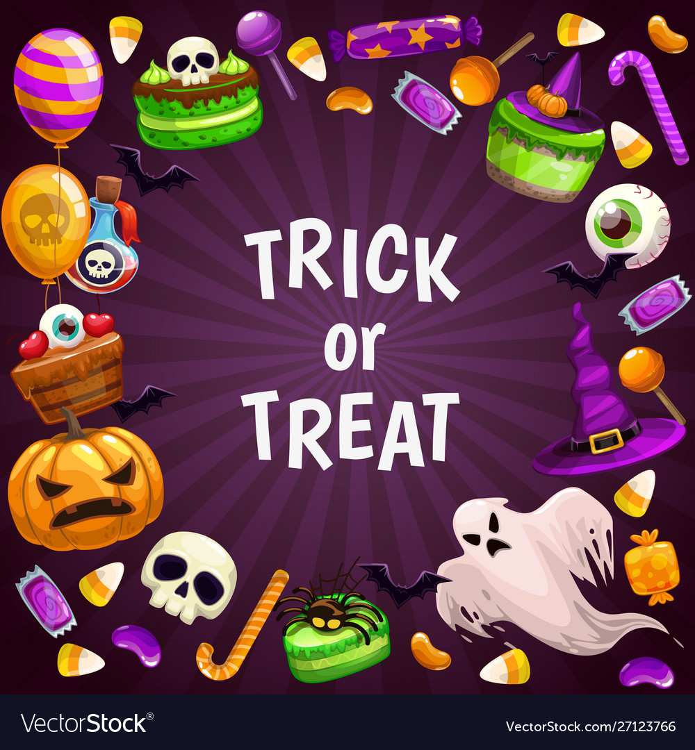Trick or treat background spooky halloween