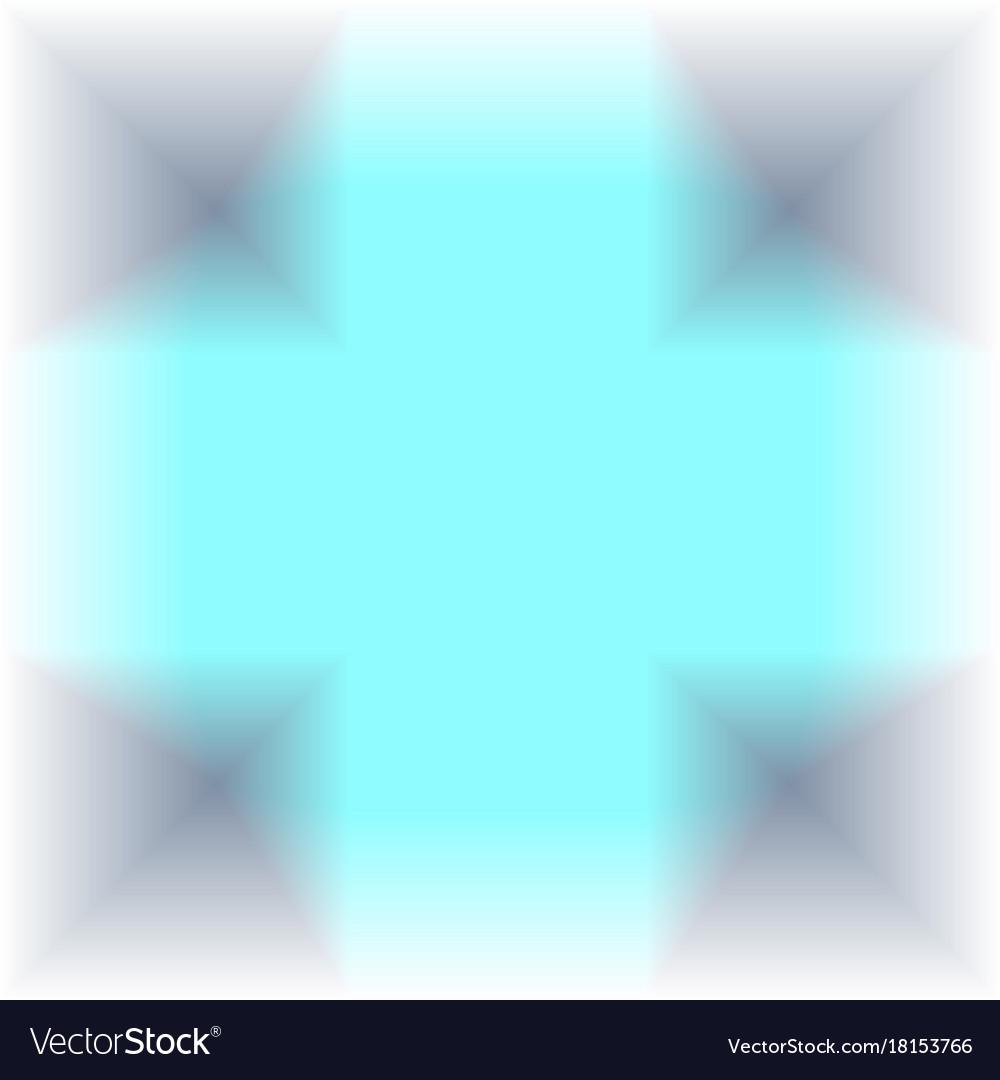 Turquoise gray geometric glowing background