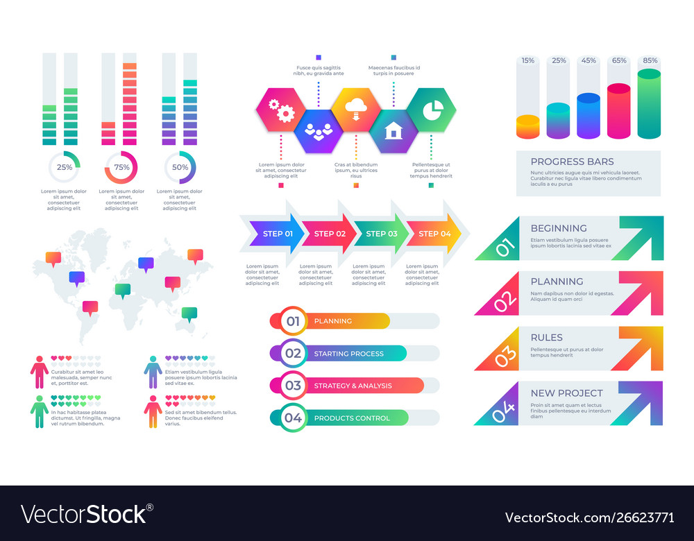 Chart elements business presentation graph layout