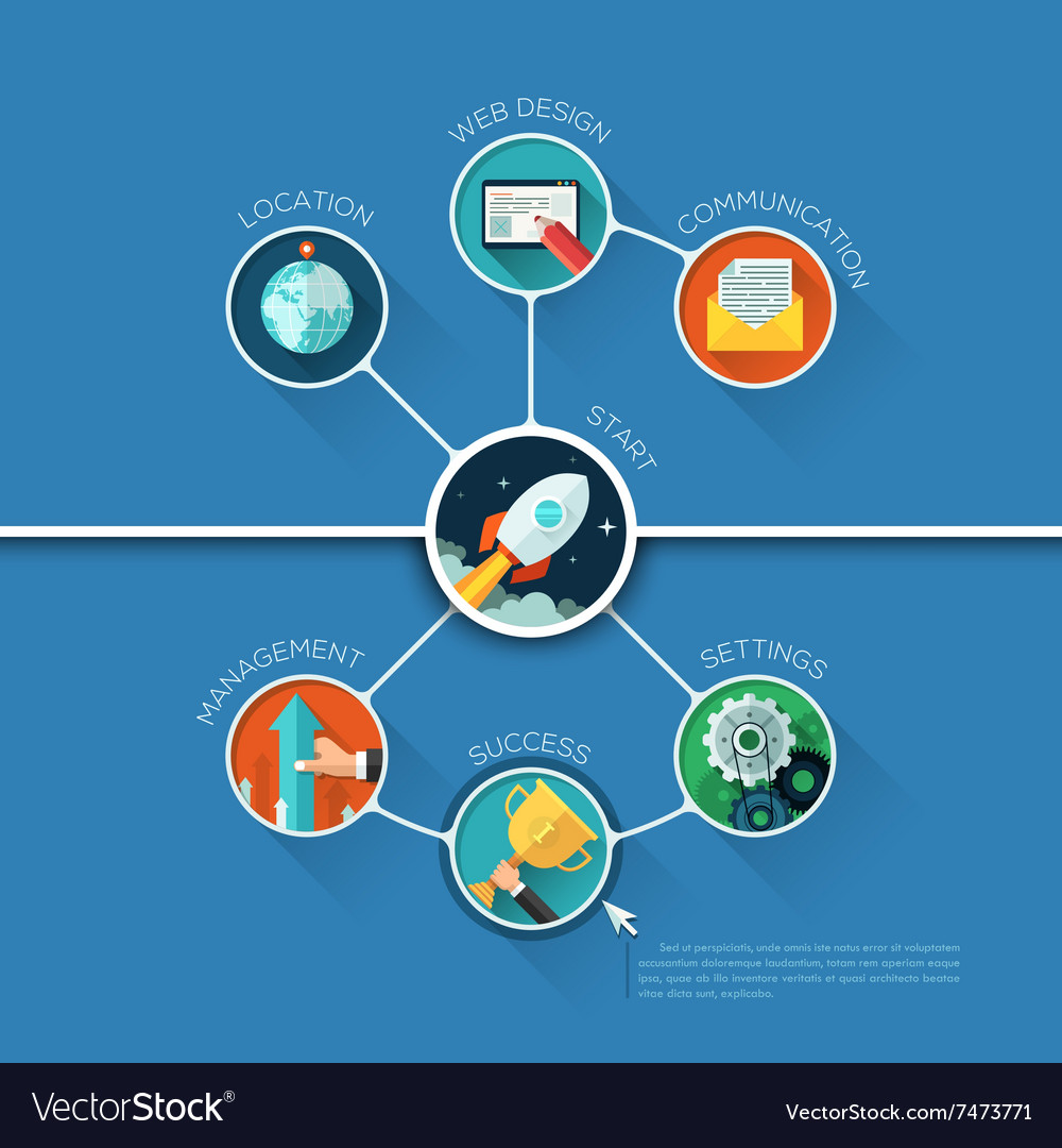 Infographic business circle shape template design