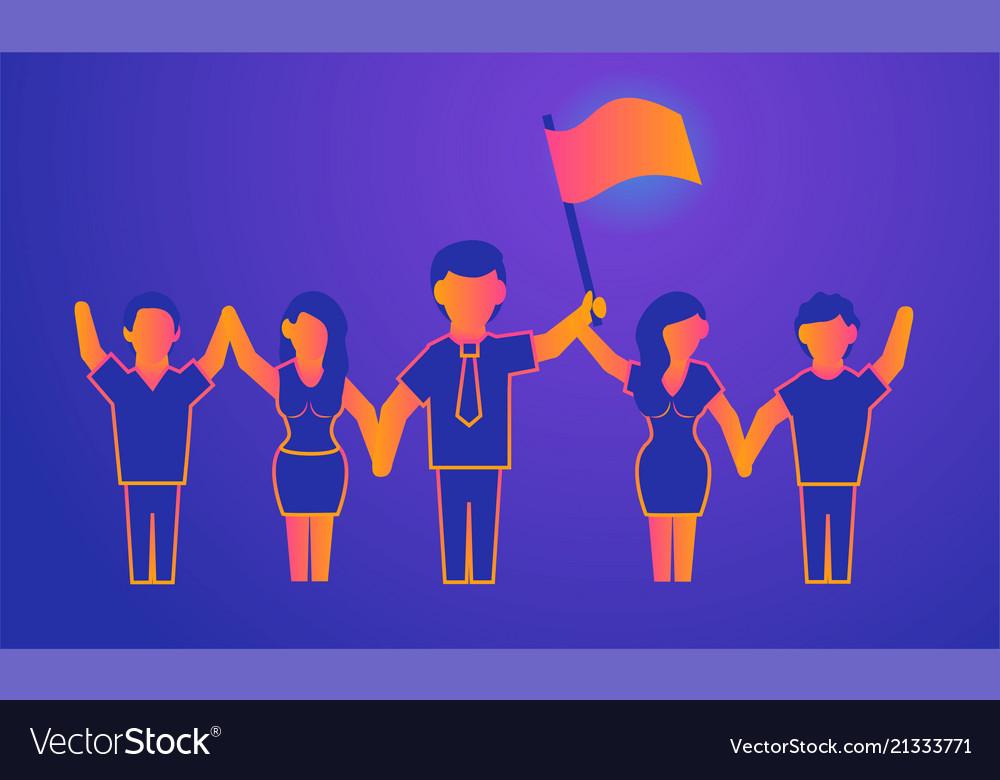 Leadership gradient on violet