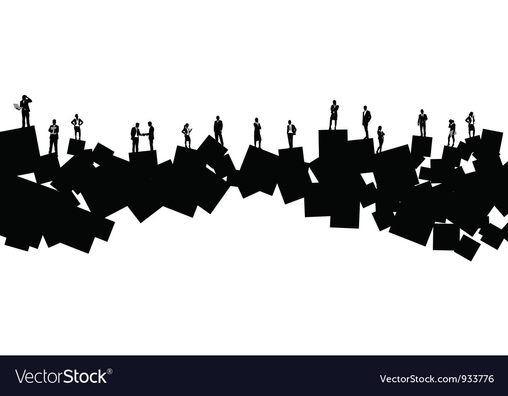 Business people square vector image